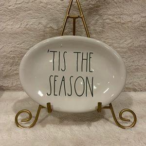 Rae Dunn 'Tis the season oval appetizer plate